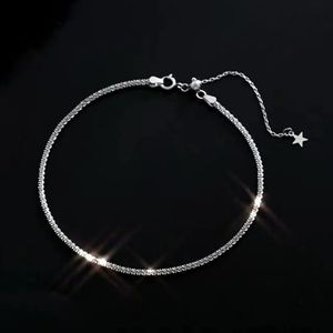 NEW 925 Sparkling Silver Diamond Cut Ankle B